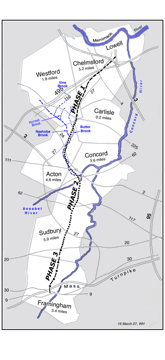 Bruce Freeman Rail Trail Map