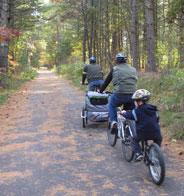 Family enjoying the Bruce Freeman Rail Trail