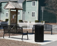 Rest area on Old Colony Multi-use Path in Mansfield
