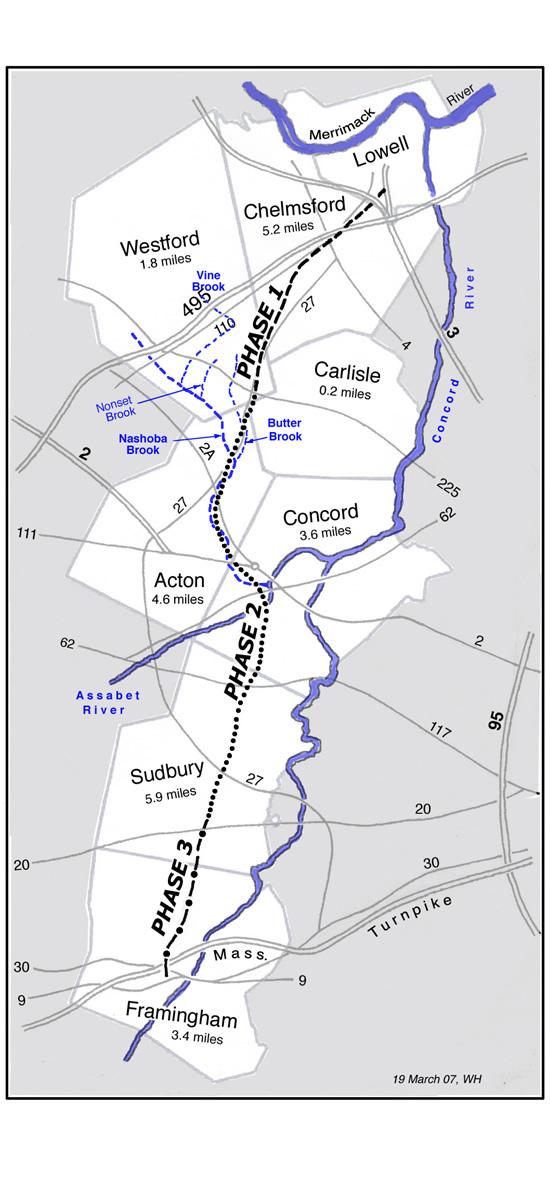 Bruce Freeman Rail Trail Map